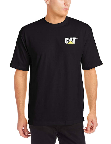 CAT W05324-016-2XL Short Sleeve Trademark T-Shirt, Black, 2-XL