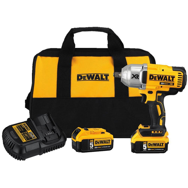 "DeWalt DCF899HP2 XR High Torque 1/2"" Impact Wrench w/ Hog Ring Anvil Kit, 5 Ah, 20V"