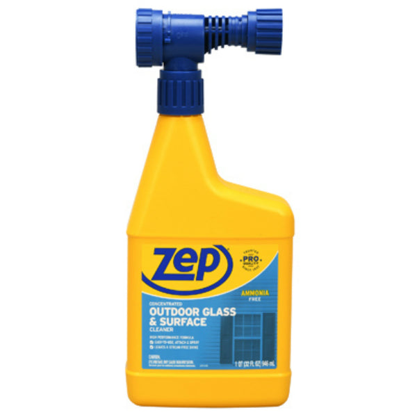 Zep U49910 Concentrated Outdoor Glass & Surface Cleaner, 32 Oz