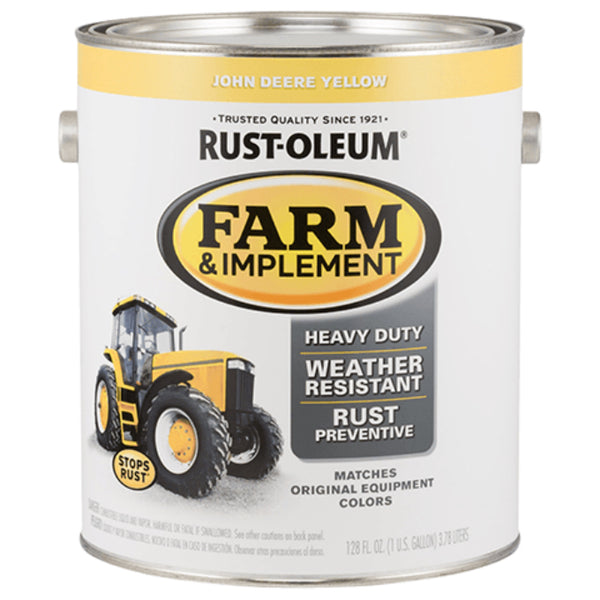 Rust-Oleum 280175 Specialty Farm & Implement Paint, JD Yellow, 1 Gallon