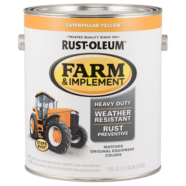 Rust-Oleum 280179 Specialty Farm & Implement Paint, Caterpillar Yellow, 1 Gallon