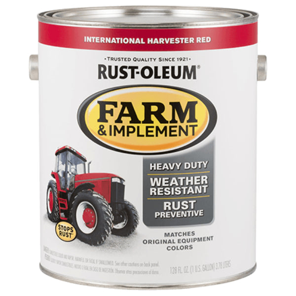 Rust-Oleum 280167 Specialty Farm & Implement Paint, International Red, 1 Gallon