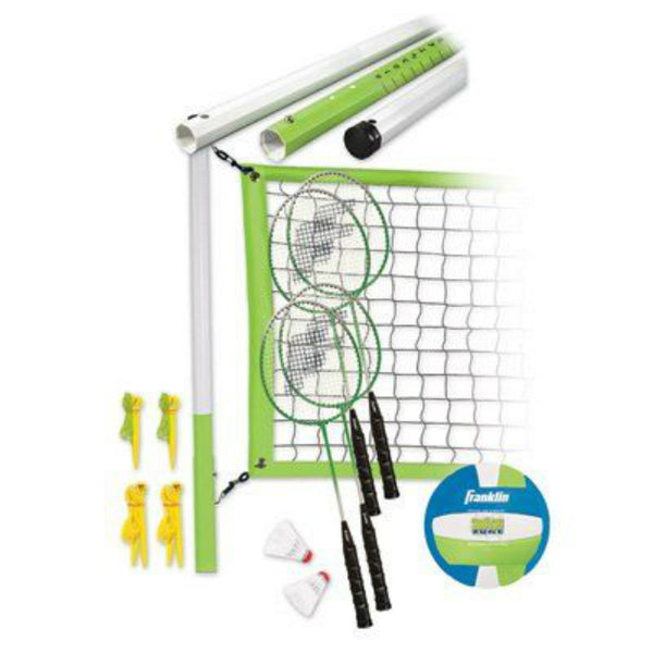 Franklin 50610 Intermediate Volleyball/Badminton Combo Sets w/ Badminton Rackets