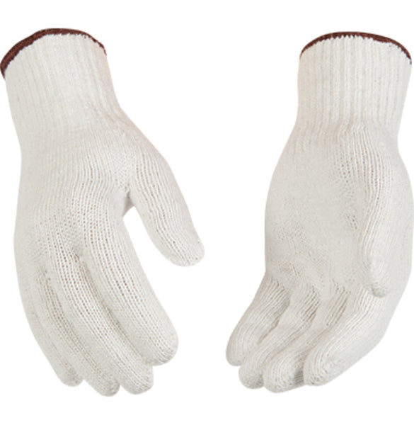 Kinco 1775-S Heavyweight Polyester-Cotton Blend Knit Glove, White, Small