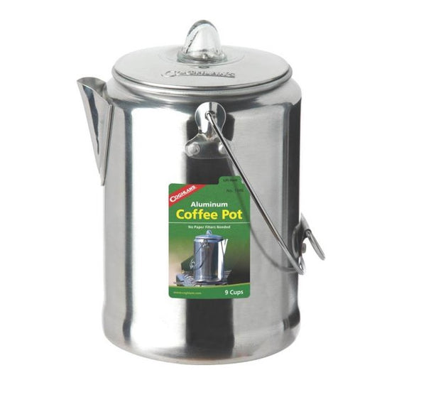 Coghlan's 1346 Coffee Pot, Aluminum, 9 Cup