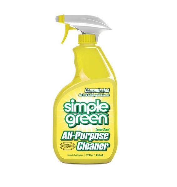 Simple Green 3010001214001 All Purpose Cleaner, 22 Oz, Lemon Scent