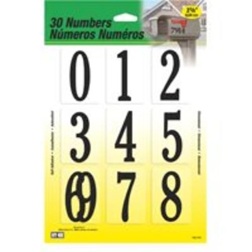 "Hy Ko MM-200B Plastic Numbers Set, 2-3/8"", Black"