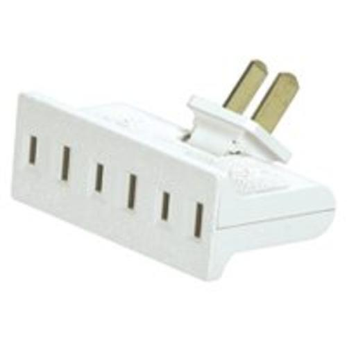 Cooper Wiring BP1792W-SP Swivel 3 Outlet Tap, White?