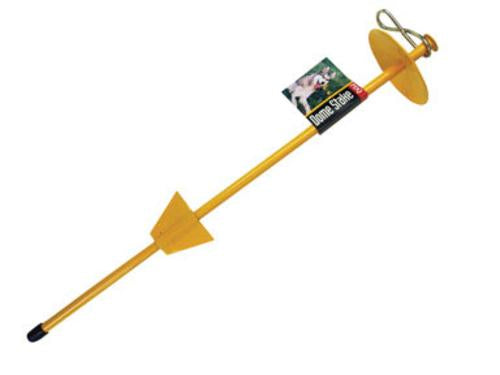 "Boss Pet 01310 Tie Out Stake, 20"", Yellow"