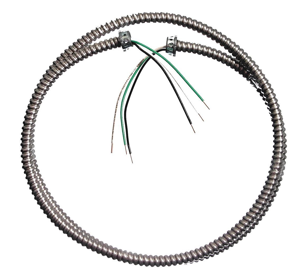 southwire 55082415 solid lighting flex whip  3  8 u0026quot  x 6