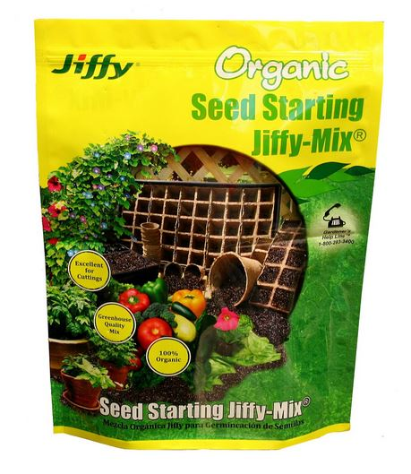 Jiffy G310/5088 Jiffy Mix Organic Seed Starting Soil, 10 Quart