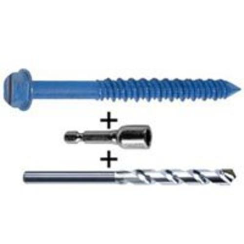 "Cobra 676T Socket Drive/Drill Bit Screw, 3/16""x4"""