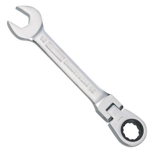 DeWalt DWMT75206OSP Metric Flex Head Combination Ratchet Wrench, 15 mm