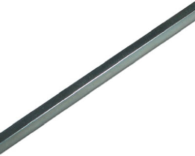 "SteelWorks 11176 Square Key Stock, 3/8"" x 12"", Zinc Plated"