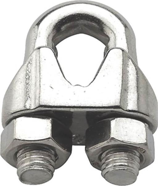 Baron 260S-1/4 Stainless Steel Wire Cable Clamp, 1/4""