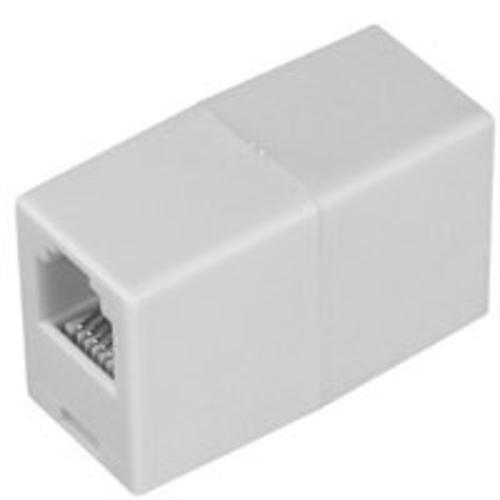 "Zenith TS1001CW Coupler In-Line .87""x1.37""x 0.5"", White"