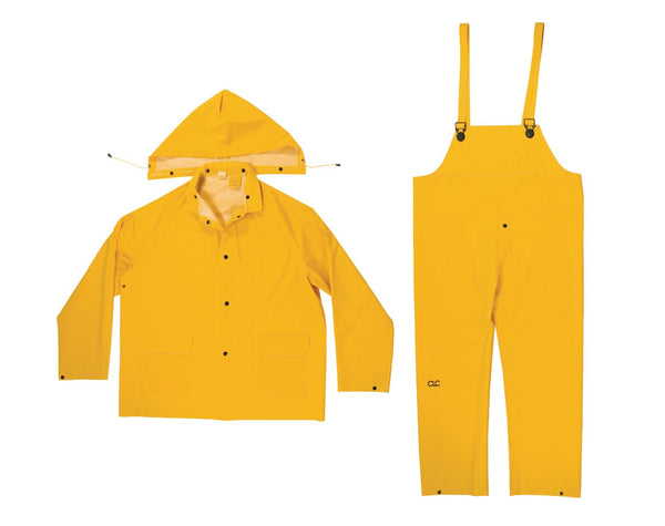 CLC R102X 3 Piece Heavyweight PVC Rain Suit, Yellow, XL