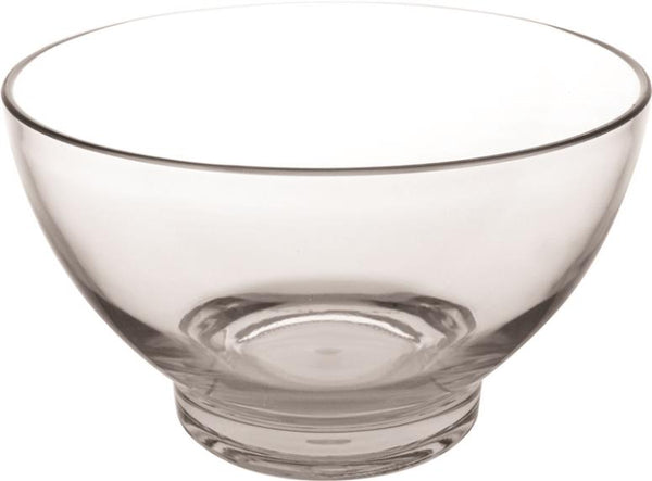 Knack3 165305I Acrylic Clear Bowl, Large, Tinted Cool Gray