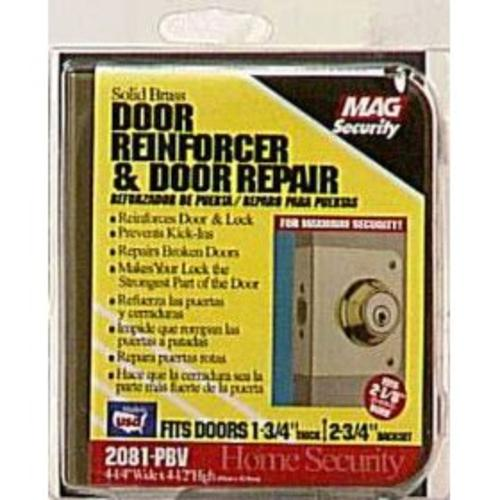 Prime-Line U 9558 Lock And Door Reinforcer, Brass, 2-1/8""