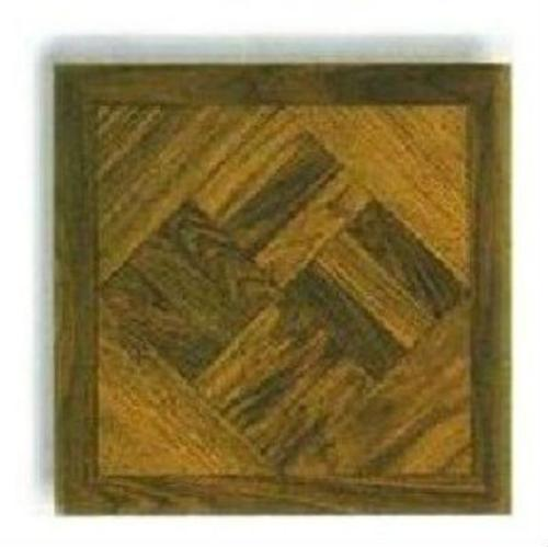 "Mintcraft ELE-1811-1-3L Vinyl Floor Tile Dark Wood Geo 12""x12"""