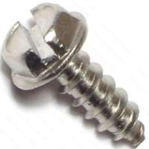 Midwest 02923 Slotted Hex Washer Head Tapping Screw #8X1/2 Zinc