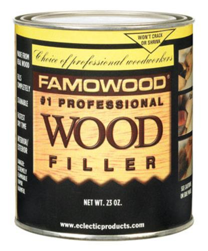 Famowood 36021134 Solvent Based Wood Filler, 23 Oz, Red Oak