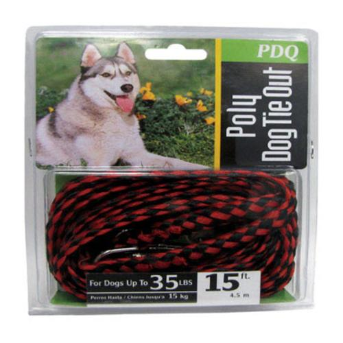 PDQ Q2415-000-99 Poly Rope Tie Out, 15'