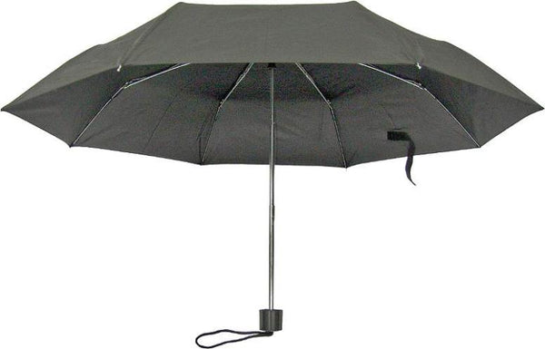 "Homebasix Rain Umbrella Mini, 19.5"", Black"