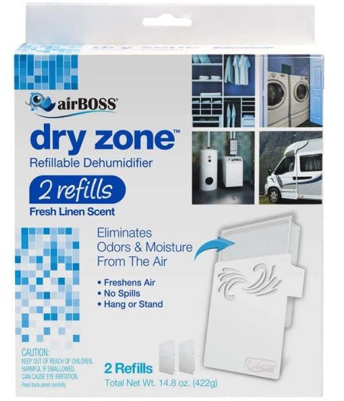 airBOSS 762.4 Dry Zone Refillable Dehumidifier, 2 Refills