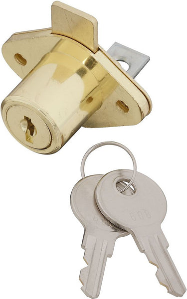 National Hardware N185-298 VKA826 Adjustable Drawer Lock, Brass