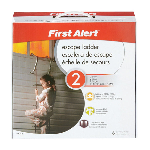 First Alert EL52-2 Two-Story Fire Escape Anti-Slip Ladder, 14'