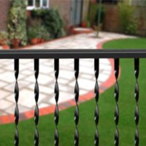 LL Building TR675 Traditional twisted Ornamental Iron Railing, 6'