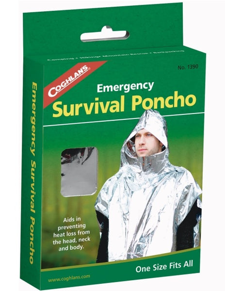 Coghlan's 1390 Emergency Survival Poncho, Silver