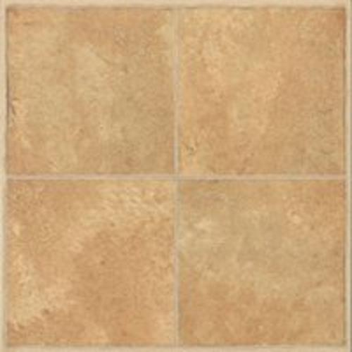 Mintcraft CL3681 Vinyl Floor Tile 12'' x 12'' x 1.2mm, Beige Inlay