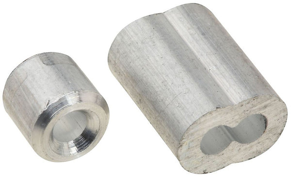 "National Hardware N830-352 Ferrule and Stop, Aluminum, 1/8""`"