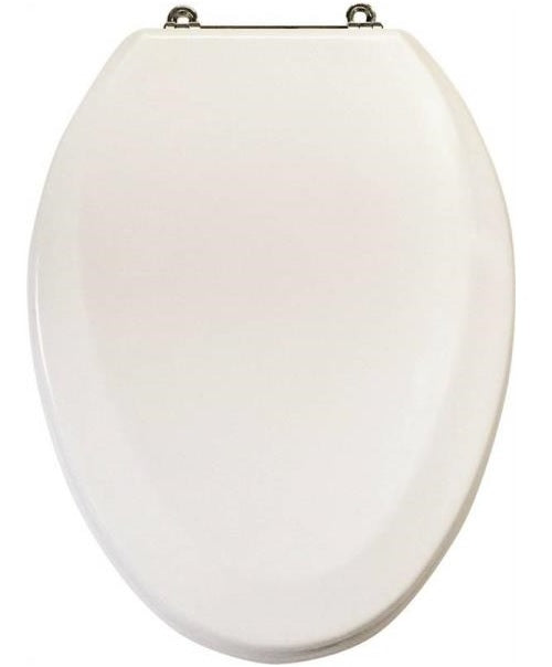 "Mintcraft T-19WMC Elongated Toilet Seat, 19"", White"