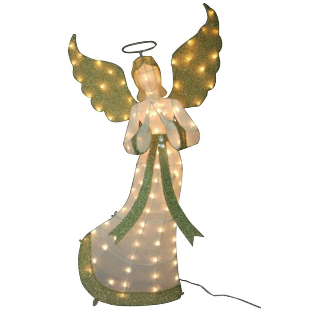 Santas Forest 58423 Christmas Decoration 3D Prelit Angel, 60 inch
