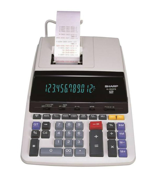 Sharp EL2630PIII Calculator, 12 Digit