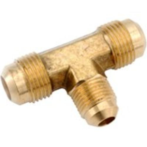 "Anderson Metals 754059-080806 Brass Flare Fittings, 1/2""x1/2""x3/8"""