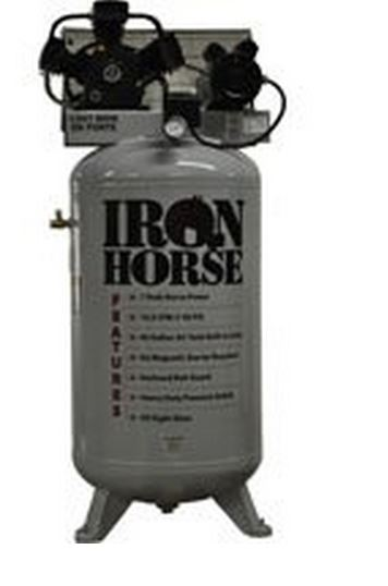 Iron Horse IHD7180V1 Vert Air Compressor, 80 Gallon
