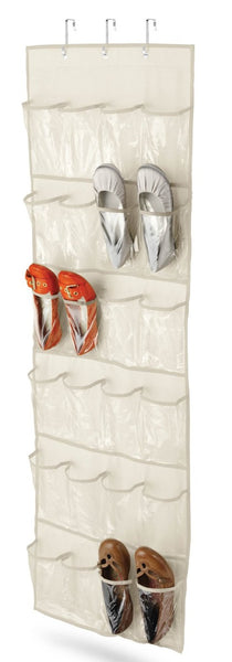 Honey Can Do SFT-01256 24-Pocket Shoe Organizer, Beige