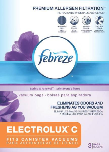 Febreze 52B61 Vacuum Cleaner Bag, Electlux