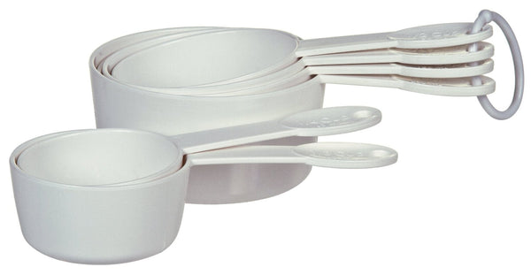 Progressive BA-3518 Measuring Cups, White, Set of 6