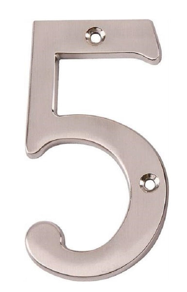 Prosource N-Z045SN-PS House Numbers # 5,  Satin Nickel, 4""