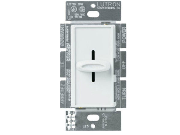 Lutron Electronics S-1000H-WH Slide Dimmer Single pole, White