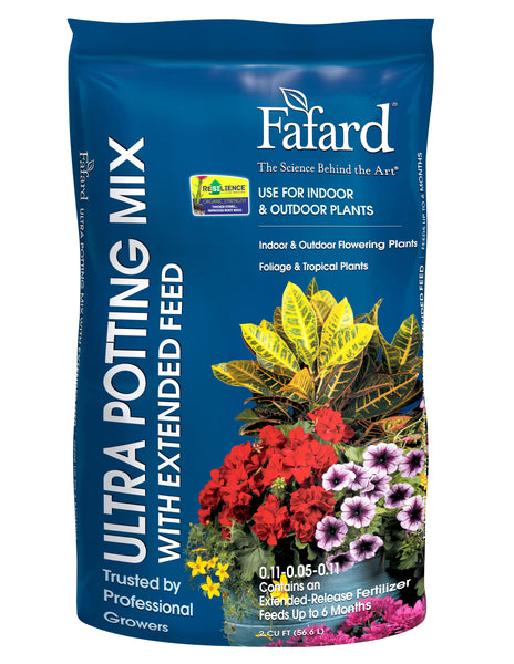 Fafard 4005201 Ultra Potting Mix with extended feed with Resilience, 2 cu. ft.