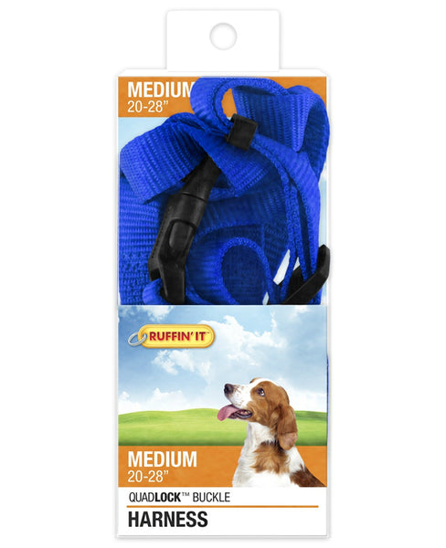 Westminster Pet 7N41473 Ruffin' It Adjustable Dog Harness, Nylon, Assorted Color, 3/4""