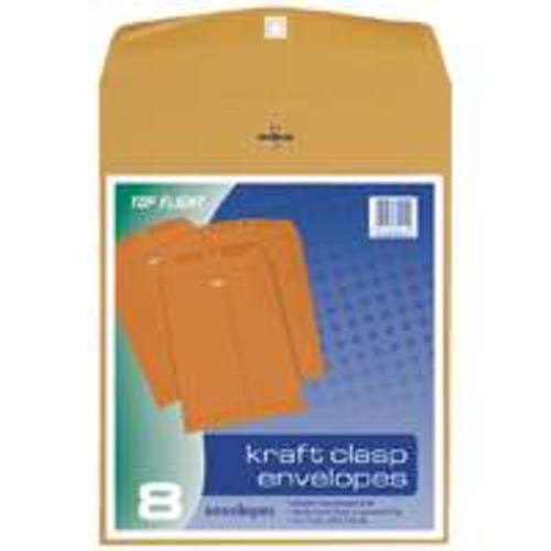 "Top Flight 74414 Kraft Clasp Envelopes, 10""X13"""