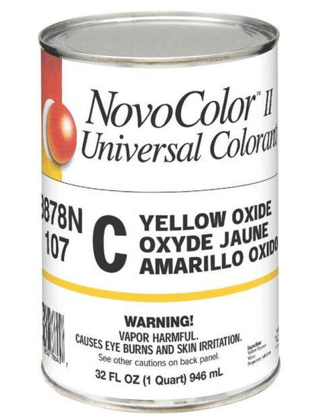 NovoColor ll 8878N Universal Colorant, C Yellow Oxide, Quart