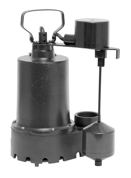Superior Pump 92341 Cast Iron Sump Pump With Vertical Float Switch, 1/3 HP